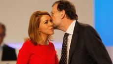 La secretaria general del PP, María Dolores de Cospedal, y el presidente del partido, Mariano Rajoy - Foto GTRES