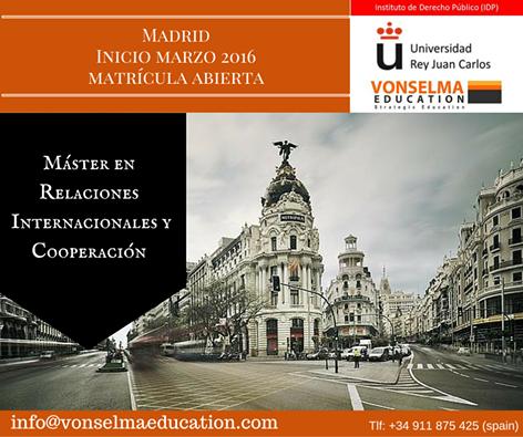 Banner Master en Relaciones Internacionales